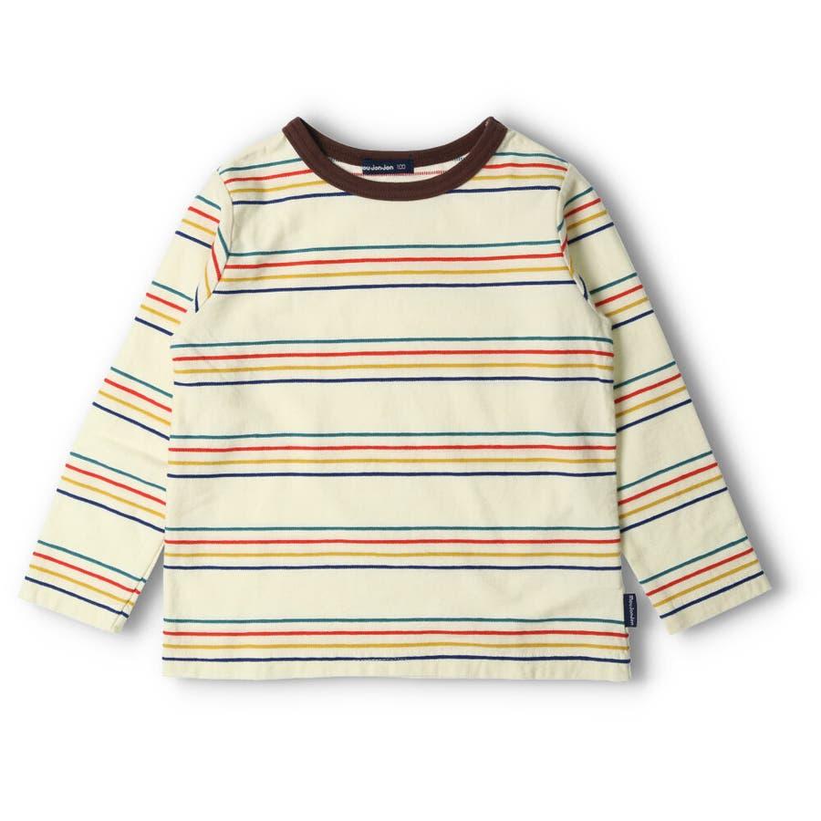 【子供服】 moujonjon (ムージョンジョン) リップルボーダーTシャツ 80cm〜140cm M52822 2