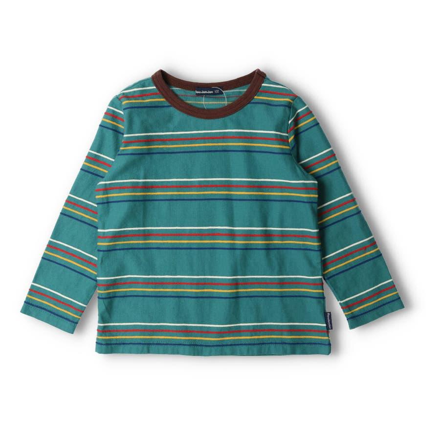 【子供服】 moujonjon (ムージョンジョン) リップルボーダーTシャツ 80cm〜140cm M52822 3