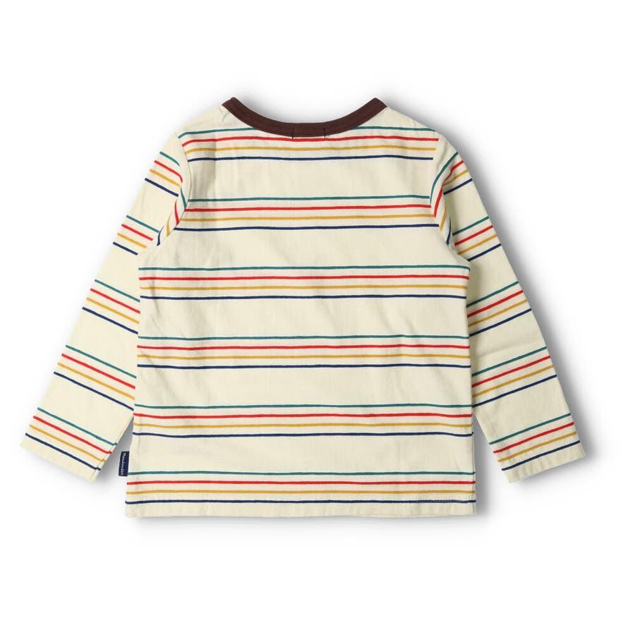 【子供服】 moujonjon (ムージョンジョン) リップルボーダーTシャツ 80cm〜140cm M52822 4