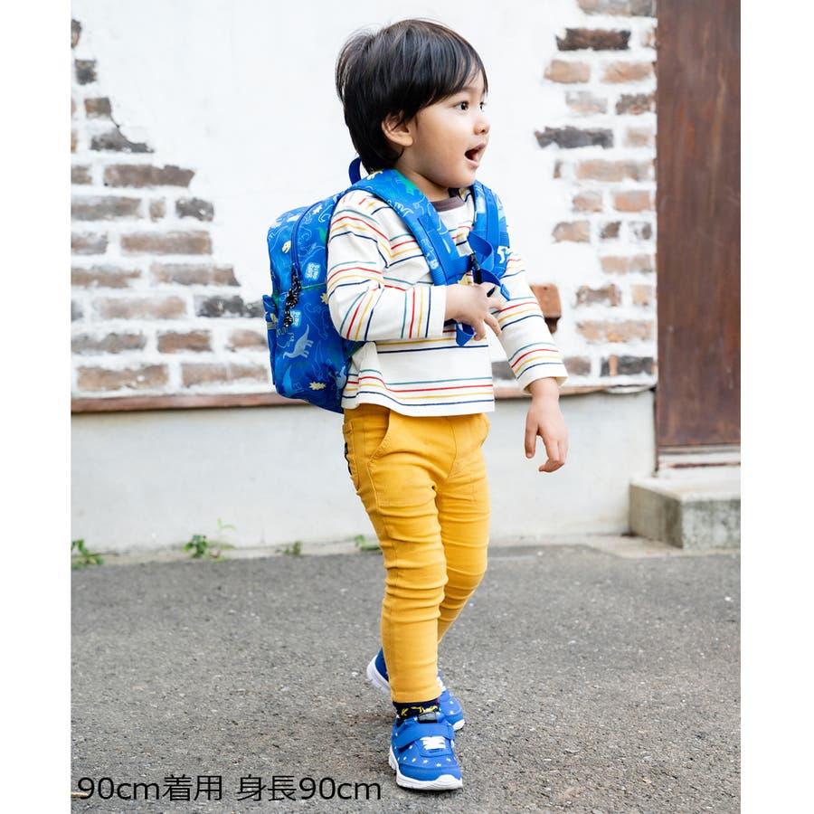 【子供服】 moujonjon (ムージョンジョン) リップルボーダーTシャツ 80cm〜140cm M52822 8