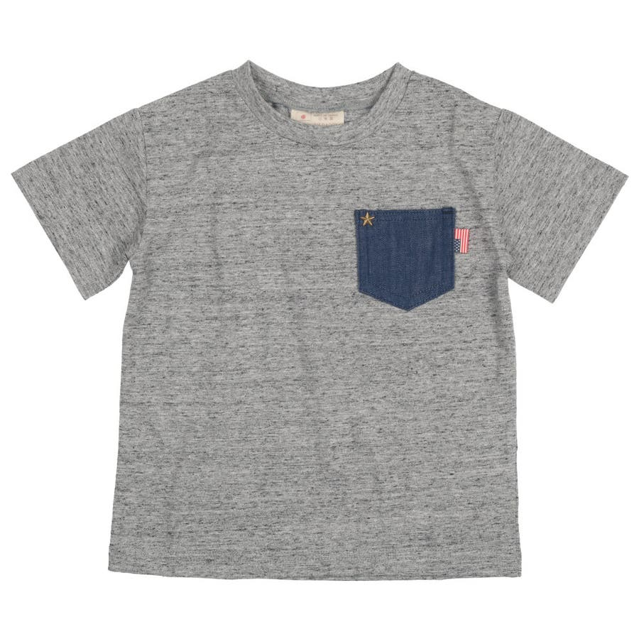 【子供服】 Daddy Oh Daddy (ダディオダディ) 日本製デニムポケット付半袖Tシャツ 80cm〜150cm V32851 2