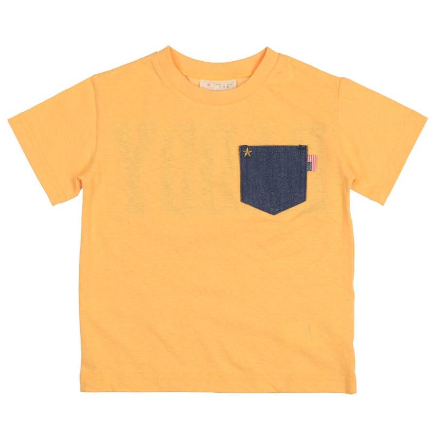 【子供服】 Daddy Oh Daddy (ダディオダディ) 日本製デニムポケット付半袖Tシャツ 80cm〜150cm V32851 4