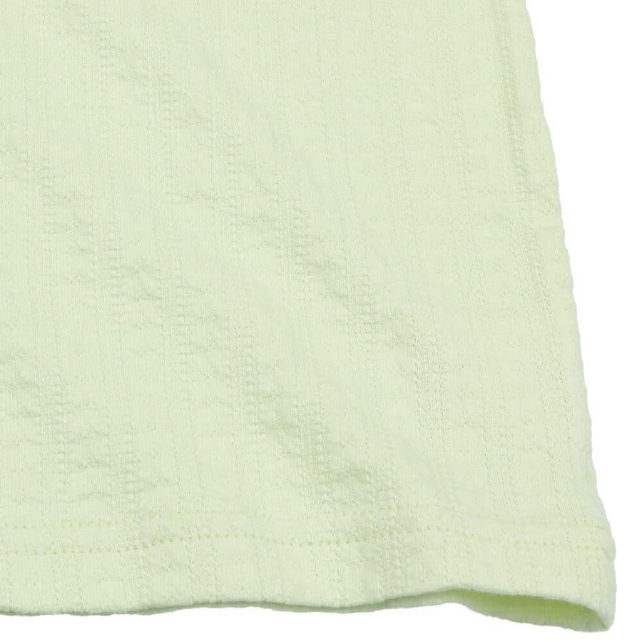 【子供服】 kids zoo (キッズズー) メッシュジャガードパフスリーブTシャツ 70cm〜95cm W22811 8