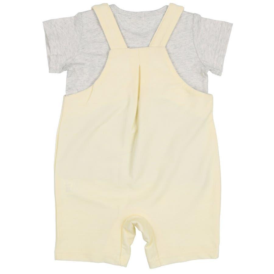 【子供服】 kids zoo (キッズズー) 半袖Tシャツ・くまオーバーオールセット 70cm〜95cm W32723 4