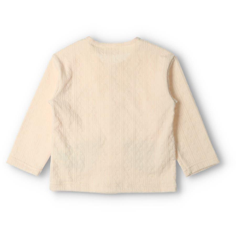 【子供服】 kids zoo (キッズズー) くまポケットカーディガン 70cm〜95cm W52400 4