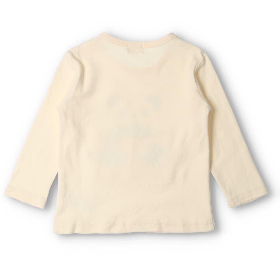 【子供服】 kids zoo (キッズズー) パンダ・クマ動物柄しかけTシャツ 70cm〜95cm W52803 4