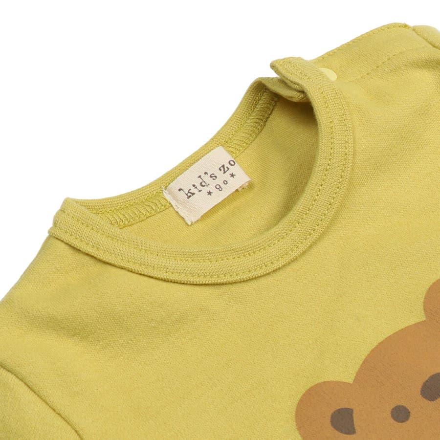 【子供服】 kids zoo (キッズズー) パンダ・クマ動物柄しかけTシャツ 70cm〜95cm W52803 5