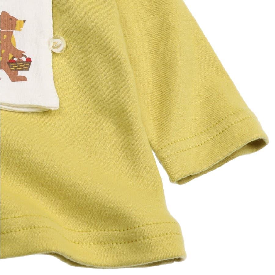 【子供服】 kids zoo (キッズズー) パンダ・クマ動物柄しかけTシャツ 70cm〜95cm W52803 6