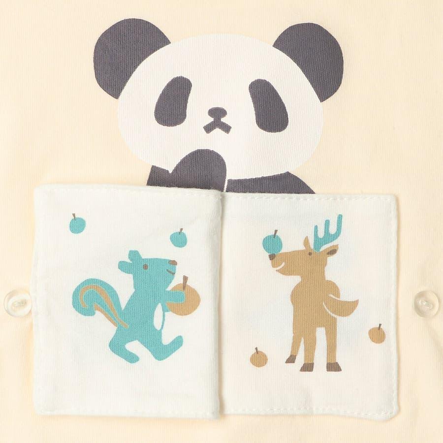 【子供服】 kids zoo (キッズズー) パンダ・クマ動物柄しかけTシャツ 70cm〜95cm W52803 8