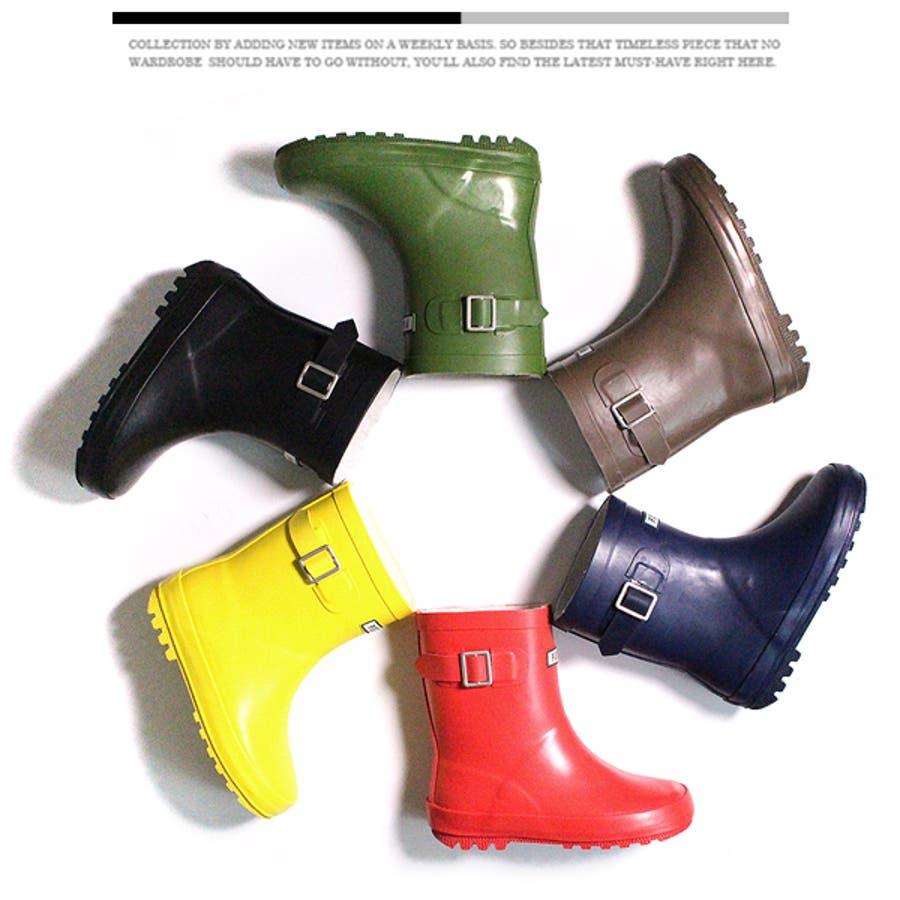POSTAR キッズ 長靴 レインブーツ 子供用 雨具 スノーブーツ 防寒 防水 撥水 雪遊び 通園通学 男の子 女の子ジュニアこども服 14cm-23cm 2