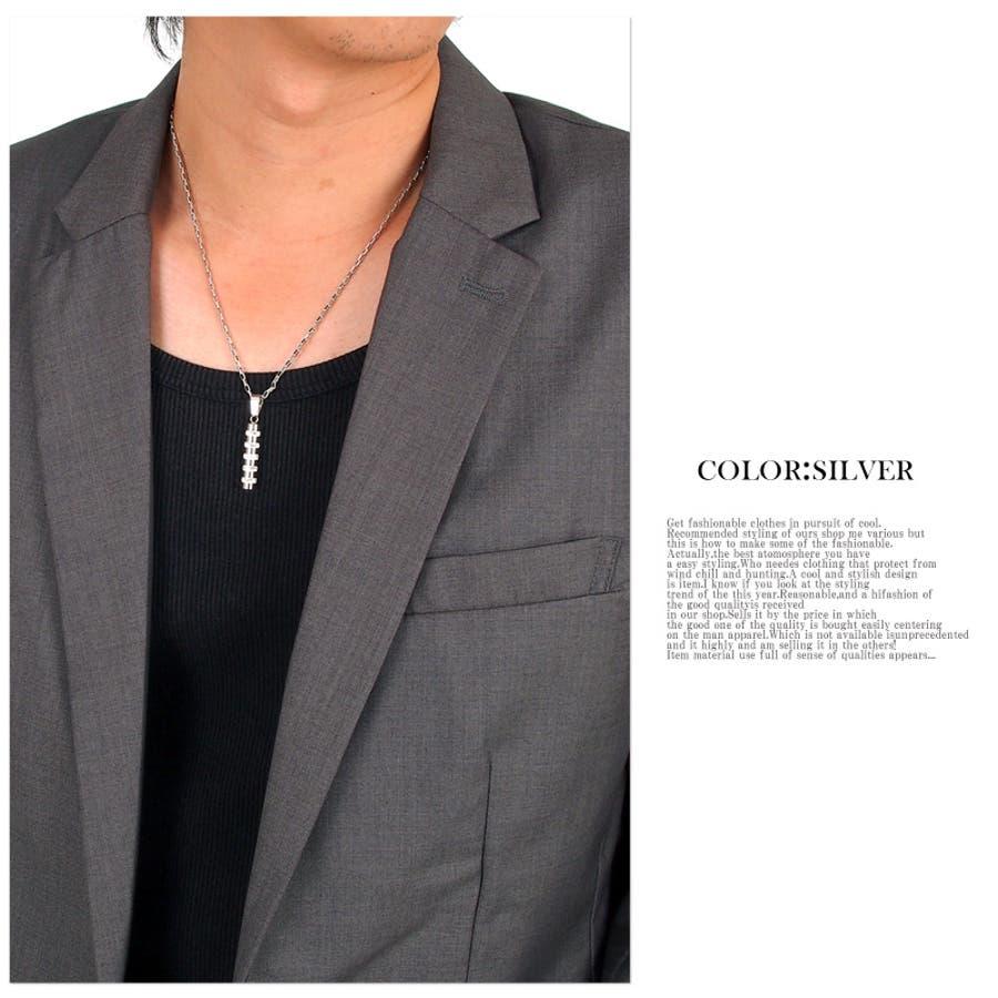 ネックレス メンズ シンプル プレート ネックレス クリスタルガラス ステンレス メンズジュエリー・アクセサリーネックレス・ペンダント,  メンズカジュアル 男性用 紳士用