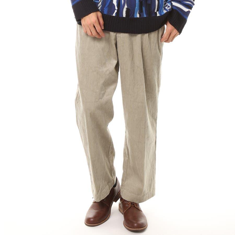 メンズ ビッグシルエット コーデュロイ ワイドパンツ 綿100% コットン ロング ズボン メンズファッション 通販 新作 服 5