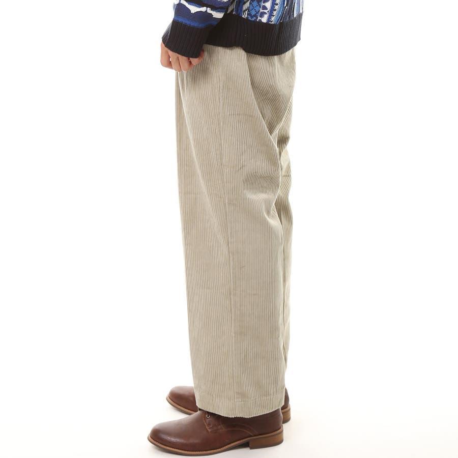 メンズ ビッグシルエット コーデュロイ ワイドパンツ 綿100% コットン ロング ズボン メンズファッション 通販 新作 服 6