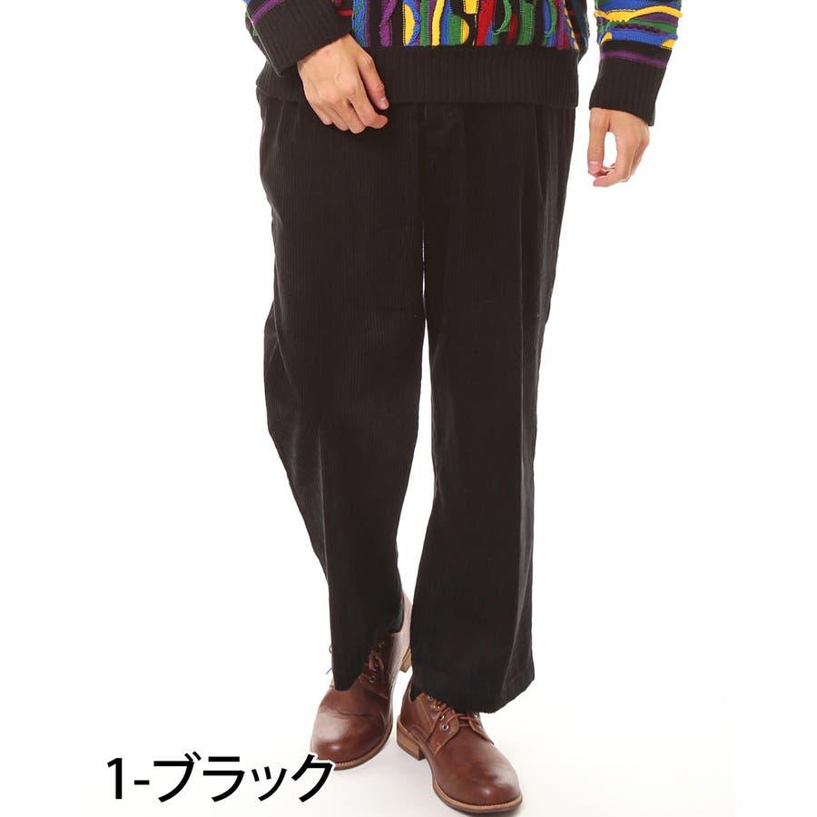 メンズ ビッグシルエット コーデュロイ ワイドパンツ 綿100% コットン ロング ズボン メンズファッション 通販 新作 服 2