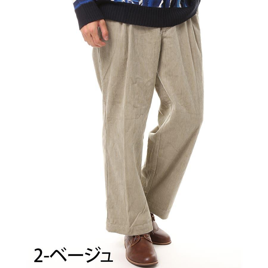 メンズ ビッグシルエット コーデュロイ ワイドパンツ 綿100% コットン ロング ズボン メンズファッション 通販 新作 服 3