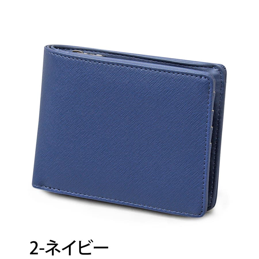 二つ折り財布 メンズ 財布 サイフ さいふ フェイクレザー 2つ折り財布 クロコ型押し 男性用 ビジネス カード入れ 小銭入れ ファッション小物 メンズファッション 通販 新作 人気 3