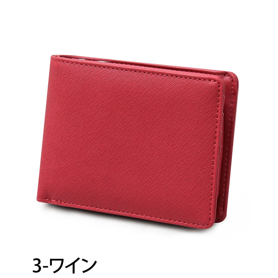 二つ折り財布 メンズ 財布 サイフ さいふ フェイクレザー 2つ折り財布 クロコ型押し 男性用 ビジネス カード入れ 小銭入れ ファッション小物 メンズファッション 通販 新作 人気 4