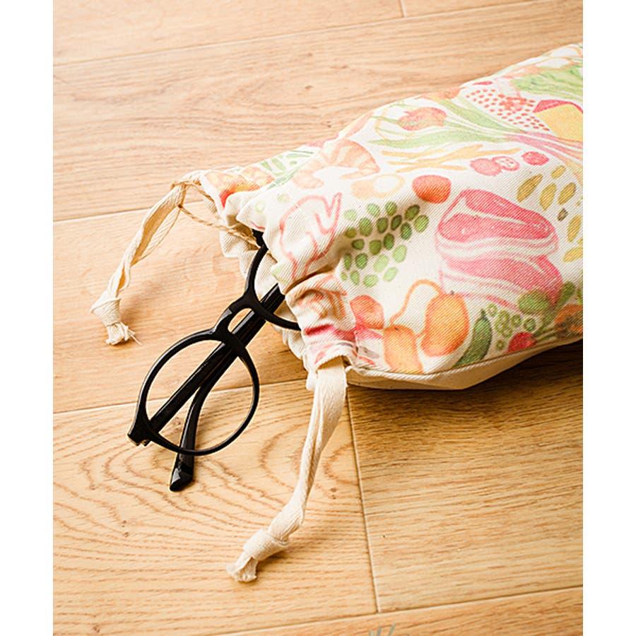 【刺繍】キャンバス地のプリント巾着袋【food】【ブランド:fillil