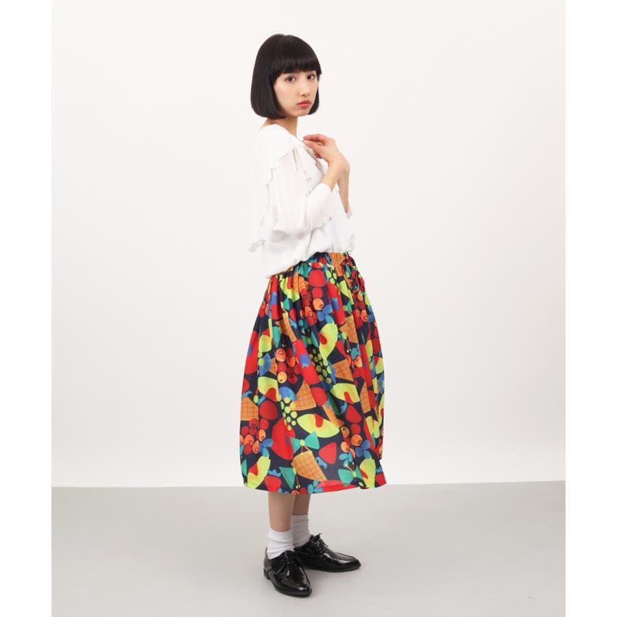 かわいい*\(^o^)/* ビュッフェ 柄スカート4221-0305 抜本