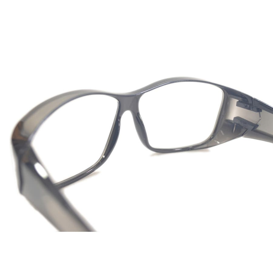 【全2色】 保護ゴーグル 保護メガネ 予防 ドライアイ対策 伊達メガネ サングラス 大きいレンズ メンズ レディース 男女兼用 10