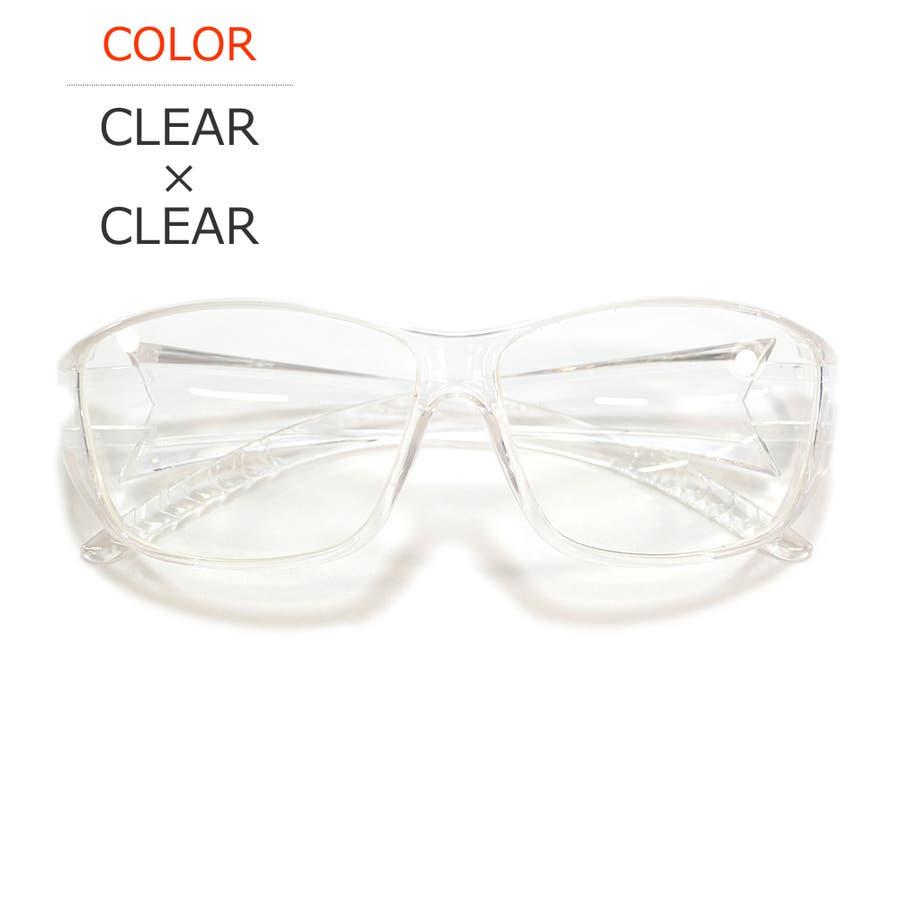 【全2色】 保護ゴーグル 保護メガネ 予防 ドライアイ対策 伊達メガネ サングラス 大きいレンズ メンズ レディース 男女兼用 108