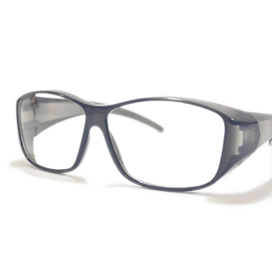 【全2色】 保護ゴーグル 保護メガネ 予防 ドライアイ対策 伊達メガネ サングラス 大きいレンズ メンズ レディース 男女兼用 7
