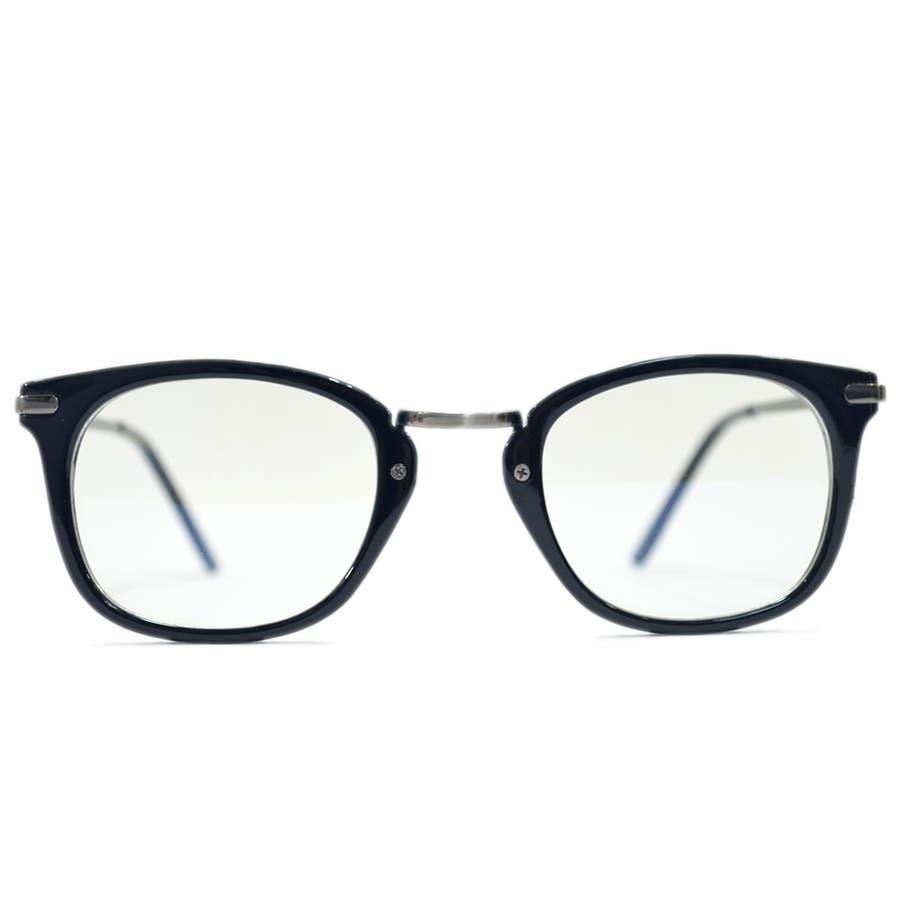 【全2色】 PCメガネ ブルーライトカット 伊達メガネ スクエア スクウェア 四角 おしゃれ パソコン用 目を保護する メンズレディース アジアンフィットレンズ 5