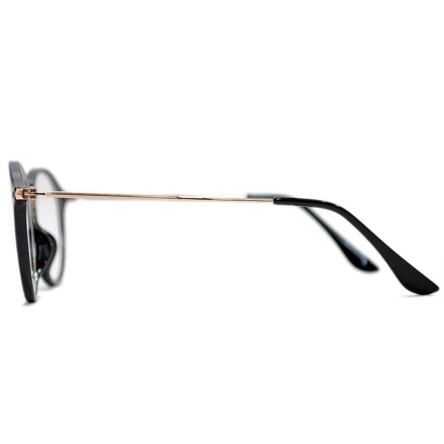 【全2色】 PCメガネ ブルーライトカット 伊達メガネ ボストン ラウンド 丸メガネ 丸型 おしゃれ パソコン用 目を保護する メンズレディース アジアンフィットレンズ 6