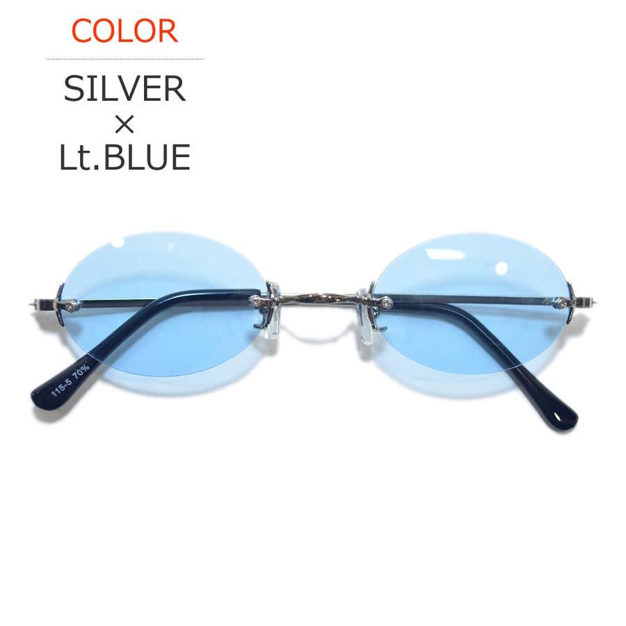 【全6色】 伊達メガネ サングラス ツーポイント 縁なし 伊達眼鏡 ダテメガネ だてめがね 丸メガネ 丸めがね 丸眼鏡メンズレディースレンズ 60