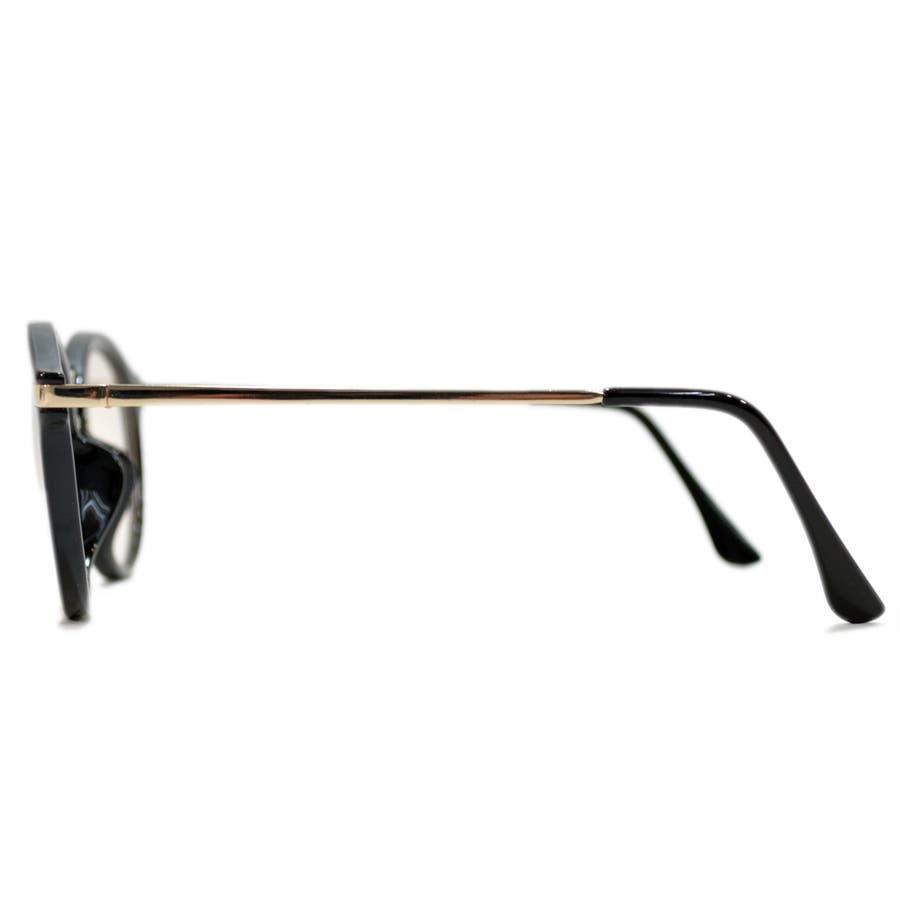 【全2色】 PCメガネ ブルーライトカット 伊達メガネ ボストン ラウンド 丸メガネ 丸型 おしゃれ パソコン用 目を保護する メンズレディース ライトカラーレンズ 薄い色 6