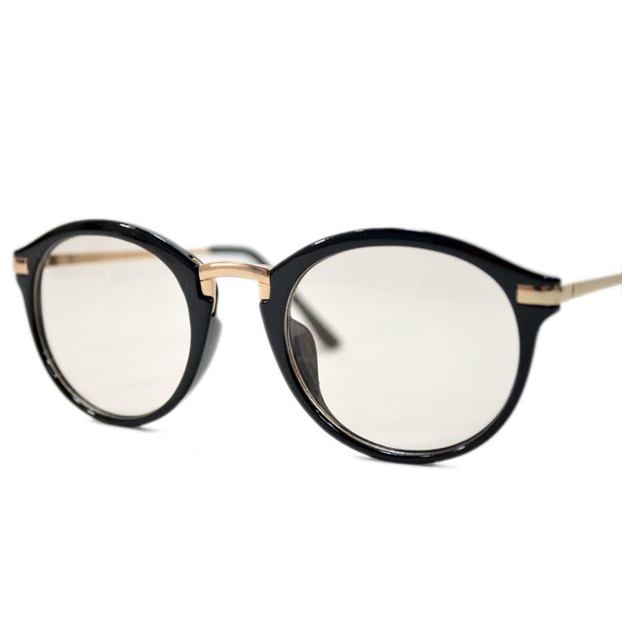 【全2色】 PCメガネ ブルーライトカット 伊達メガネ ボストン ラウンド 丸メガネ 丸型 おしゃれ パソコン用 目を保護する メンズレディース ライトカラーレンズ 薄い色 7