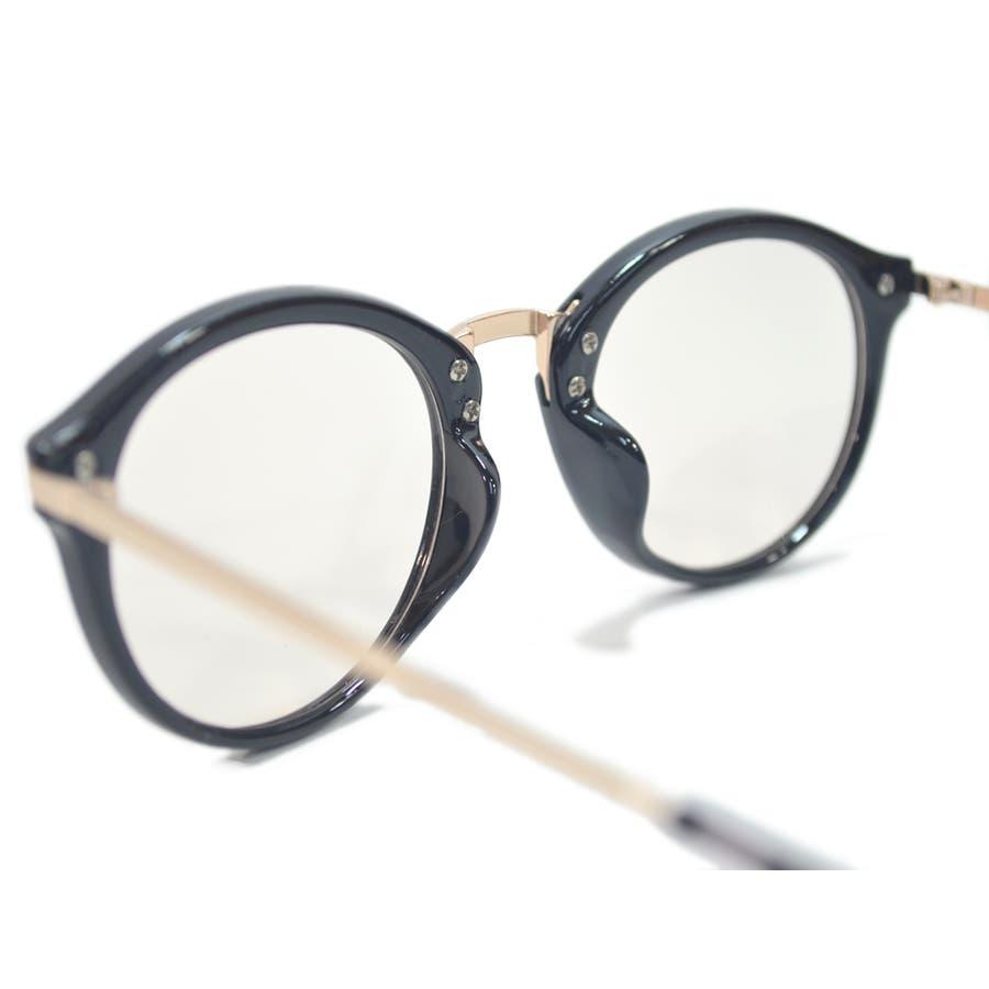 【全2色】 PCメガネ ブルーライトカット 伊達メガネ ボストン ラウンド 丸メガネ 丸型 おしゃれ パソコン用 目を保護する メンズレディース ライトカラーレンズ 薄い色 8