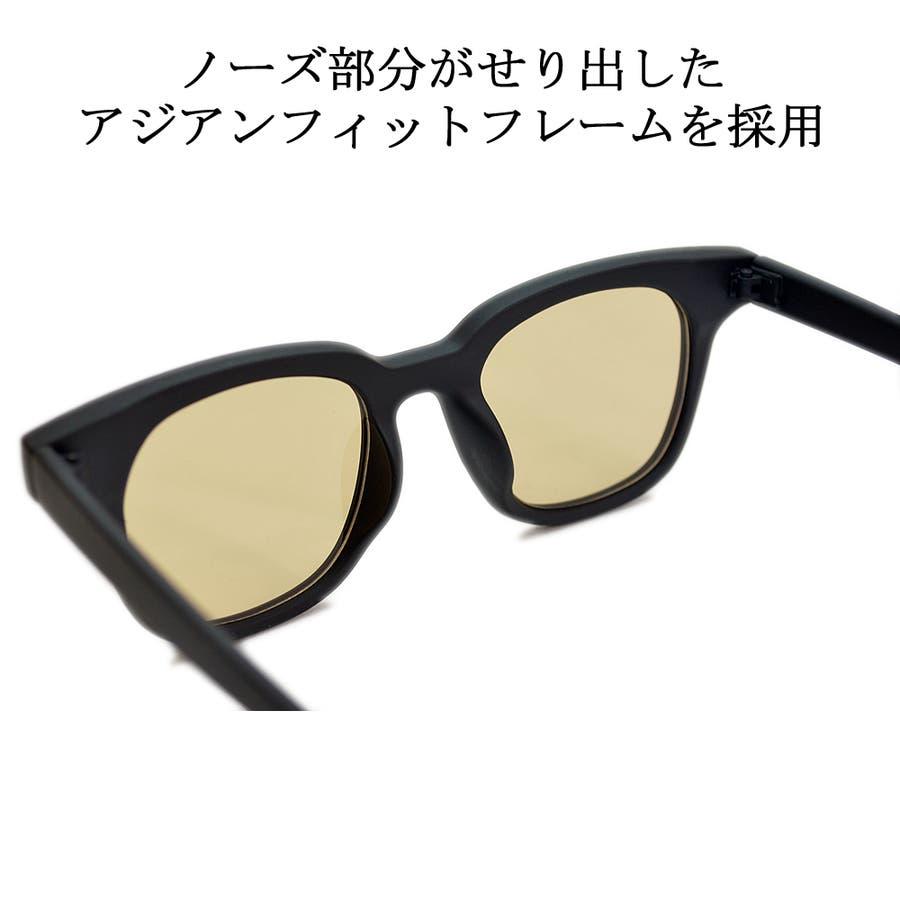 【全3色】 伊達メガネ サングラス ライトカラーレンズ ウェリントン ウエリントン 艶消し 薄い色 メンズ レディースアジアンフィット カラーレンズ 10