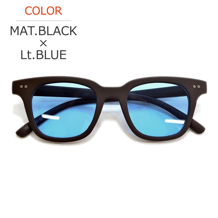 【全3色】 伊達メガネ サングラス ライトカラーレンズ ウェリントン ウエリントン 艶消し 薄い色 メンズ レディースアジアンフィット カラーレンズ 60