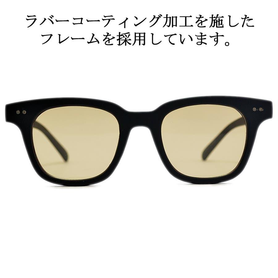 【全3色】 伊達メガネ サングラス ライトカラーレンズ ウェリントン ウエリントン 艶消し 薄い色 メンズ レディースアジアンフィット カラーレンズ 6