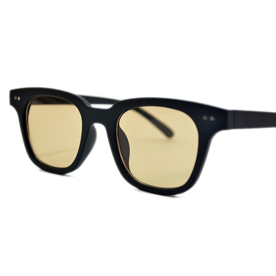 【全3色】 伊達メガネ サングラス ライトカラーレンズ ウェリントン ウエリントン 艶消し 薄い色 メンズ レディースアジアンフィット カラーレンズ 8
