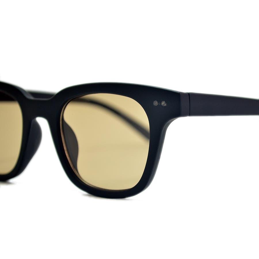 【全3色】 伊達メガネ サングラス ライトカラーレンズ ウェリントン ウエリントン 艶消し 薄い色 メンズ レディースアジアンフィット カラーレンズ 9