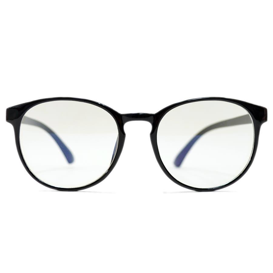 【全2色】 PCメガネ ブルーライトカット 伊達メガネ ボストン ラウンド 丸メガネ 丸型 おしゃれ パソコン用 目を保護する メンズレディース 5