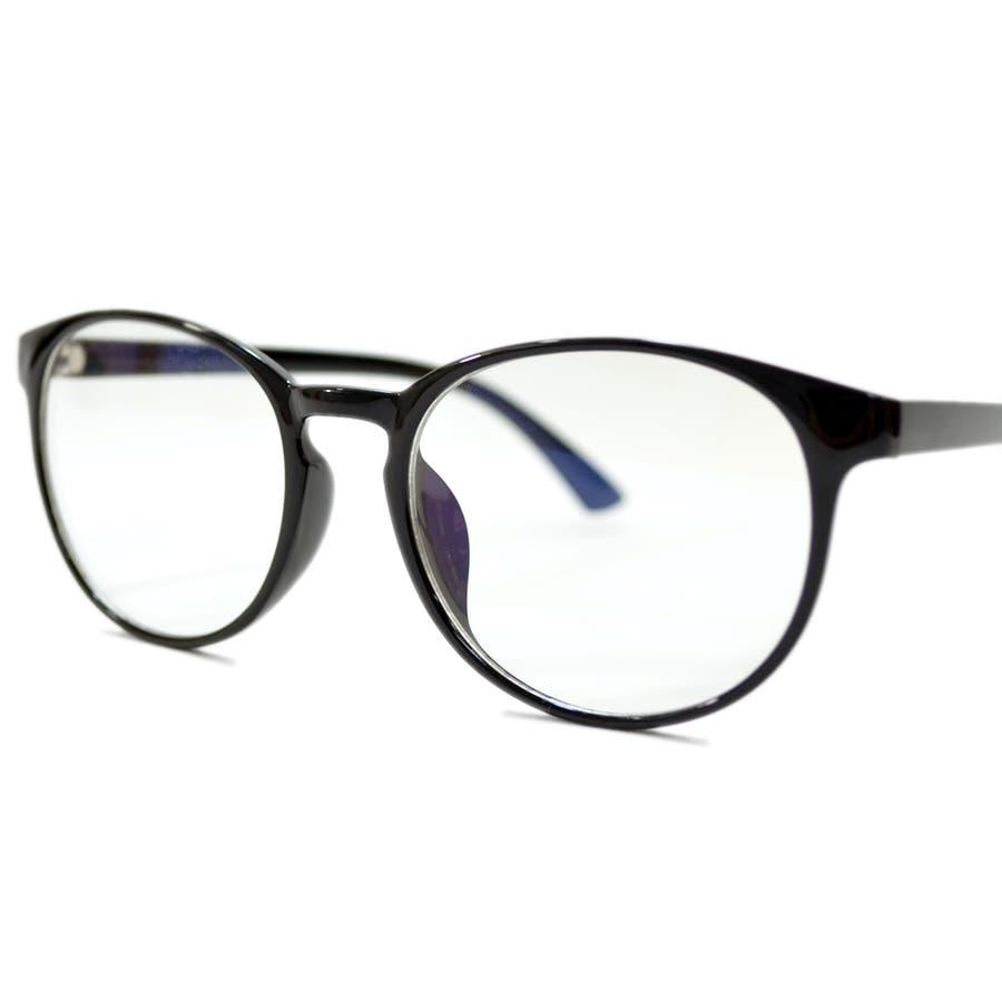 【全2色】 PCメガネ ブルーライトカット 伊達メガネ ボストン ラウンド 丸メガネ 丸型 おしゃれ パソコン用 目を保護する メンズレディース 7