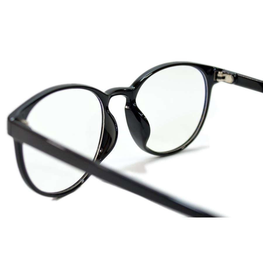 【全2色】 PCメガネ ブルーライトカット 伊達メガネ ボストン ラウンド 丸メガネ 丸型 おしゃれ パソコン用 目を保護する メンズレディース 8