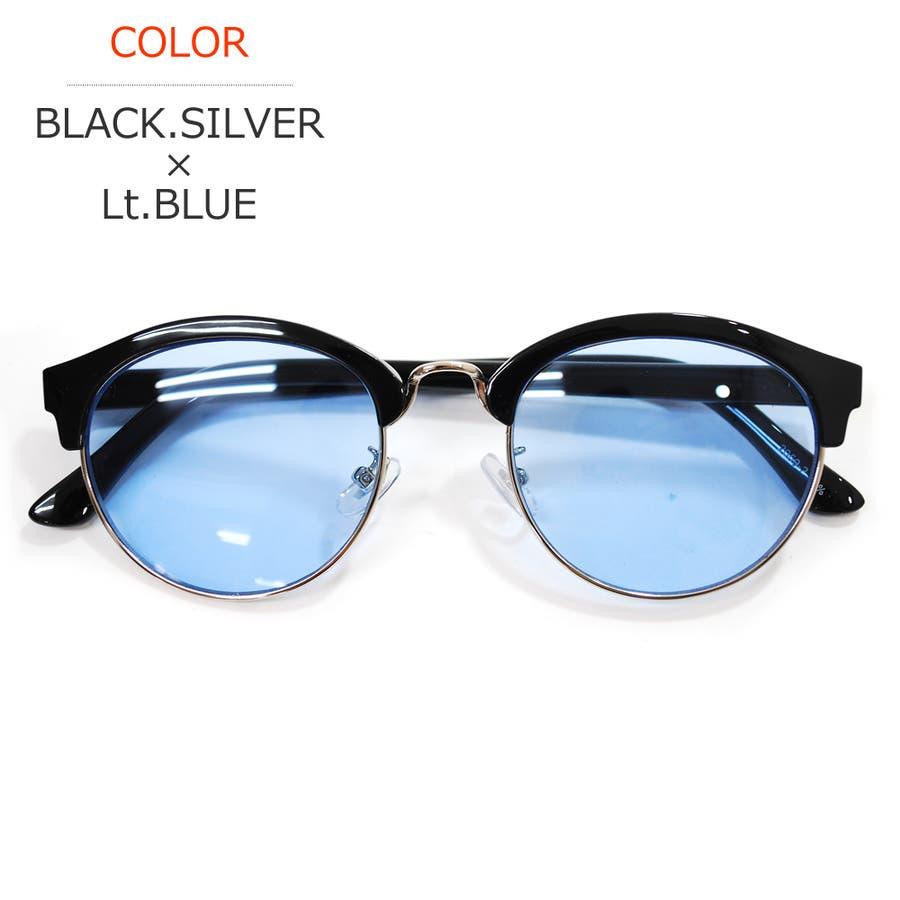 【全6色】 伊達メガネ サングラス クラブマスタータイプ ブロウ サーモント 丸メガネ 薄い色 ライトカラーレンズ 伊達めがねだてめがね メンズ レディースレンズ カラーレンズサングラス 60