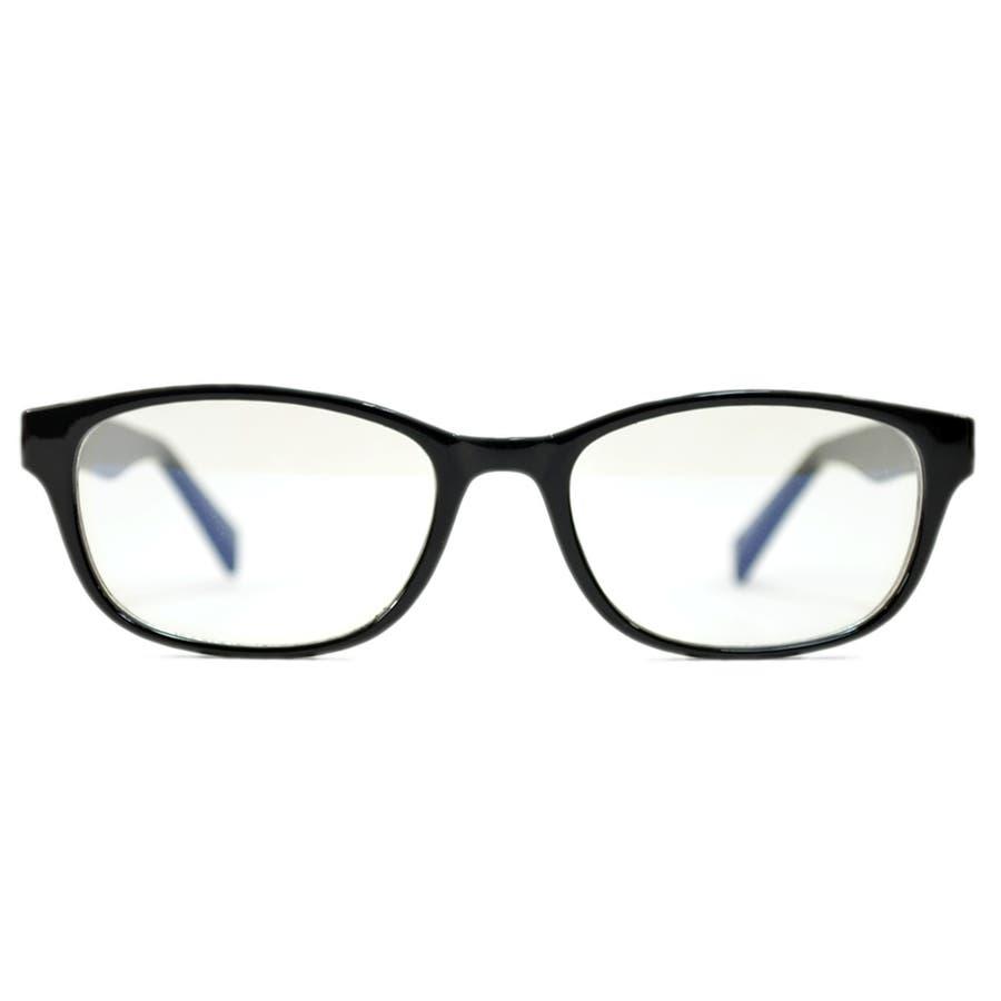 【全2色】 PCメガネ ブルーライトカット 伊達メガネ オーバル おしゃれ パソコン用 目を保護する メンズ レディースアジアンフィットレンズ 5