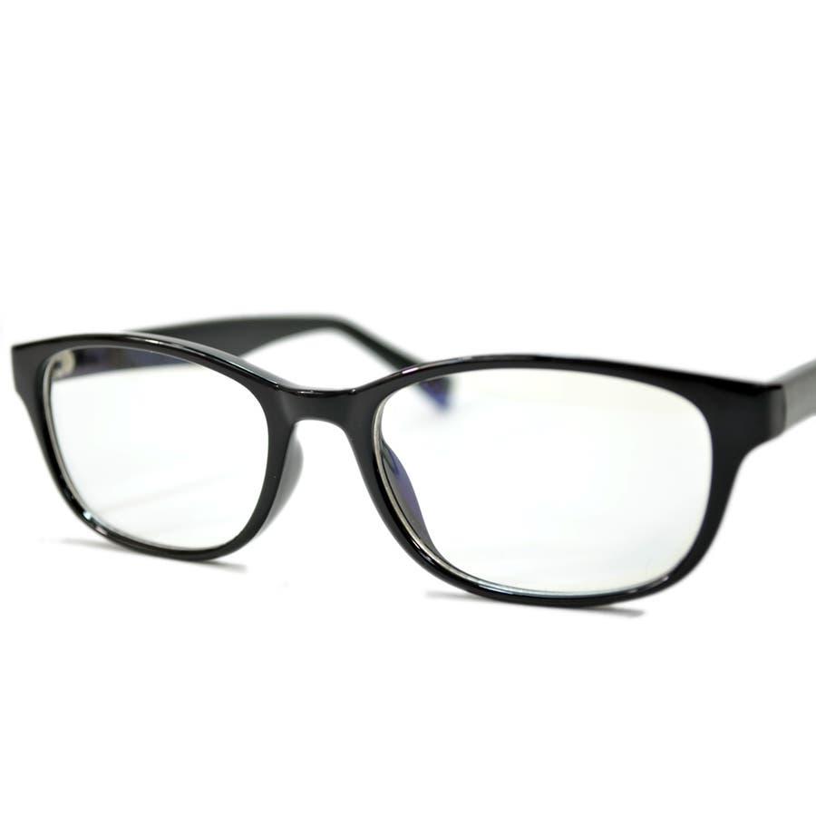 【全2色】 PCメガネ ブルーライトカット 伊達メガネ オーバル おしゃれ パソコン用 目を保護する メンズ レディースアジアンフィットレンズ 7