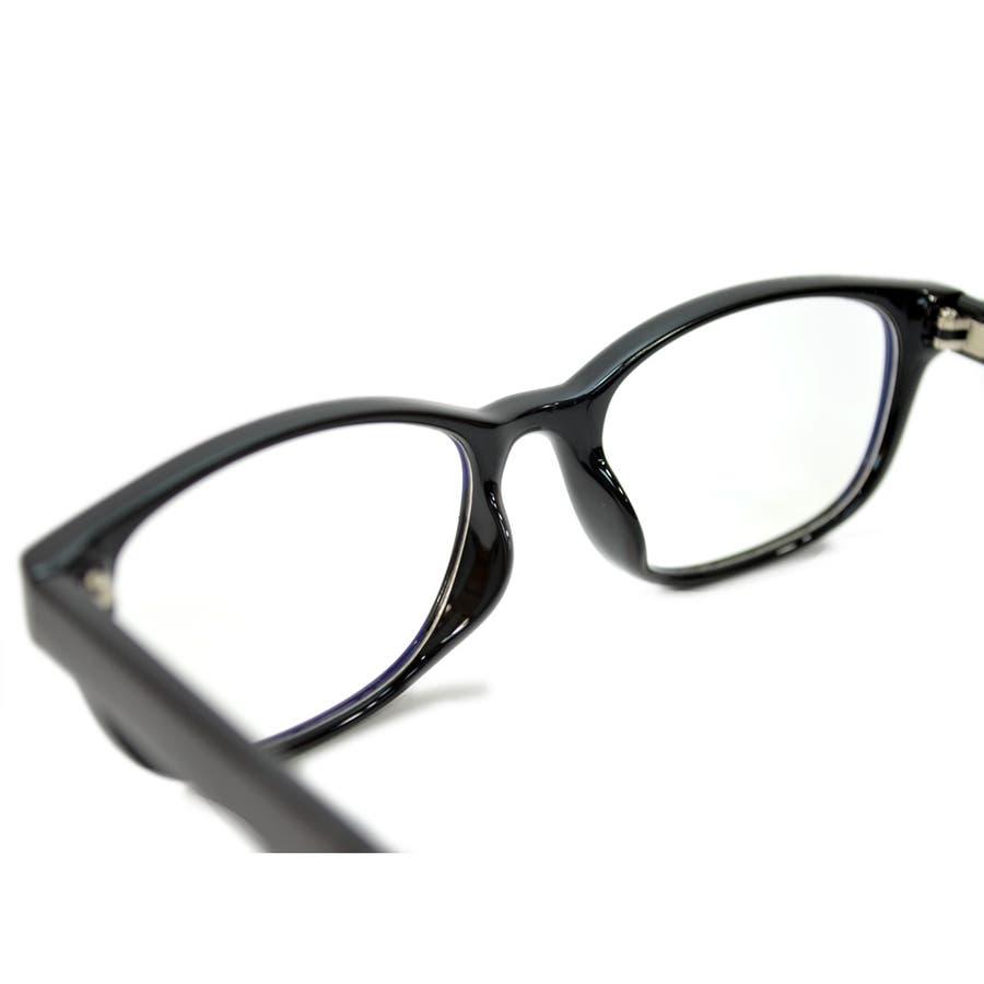 【全2色】 PCメガネ ブルーライトカット 伊達メガネ オーバル おしゃれ パソコン用 目を保護する メンズ レディースアジアンフィットレンズ 8