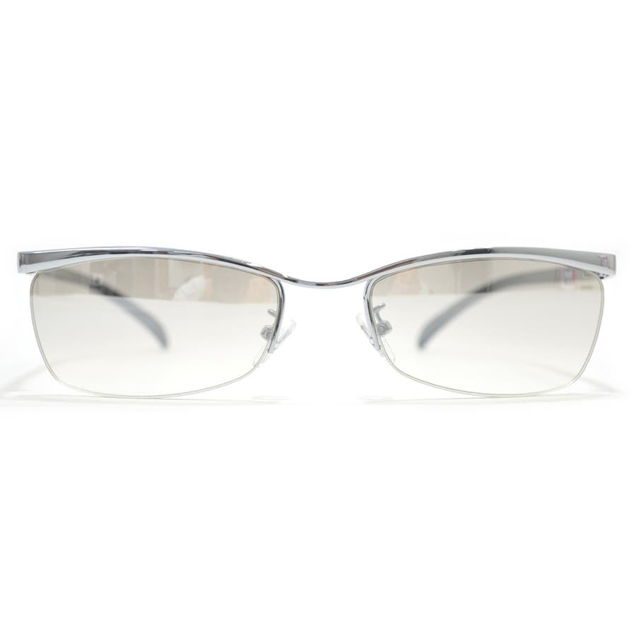 【全2色】 伊達メガネ サングラス ちょい悪 オラオラ系 強面 薄い色 ライトカラーレンズ メンズ レディース 4