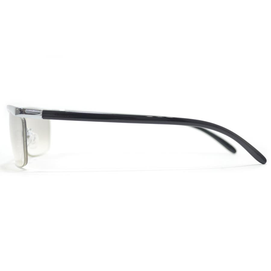 【全2色】 伊達メガネ サングラス ちょい悪 オラオラ系 強面 薄い色 ライトカラーレンズ メンズ レディース 5