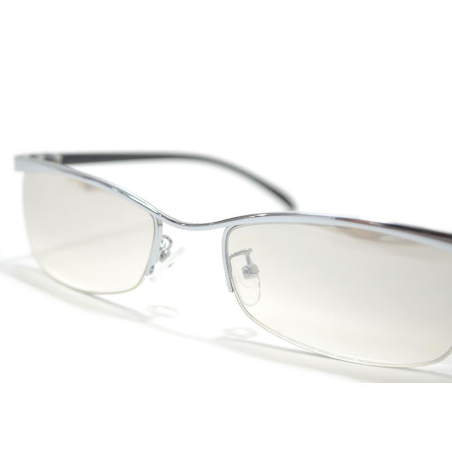 【全2色】 伊達メガネ サングラス ちょい悪 オラオラ系 強面 薄い色 ライトカラーレンズ メンズ レディース 6