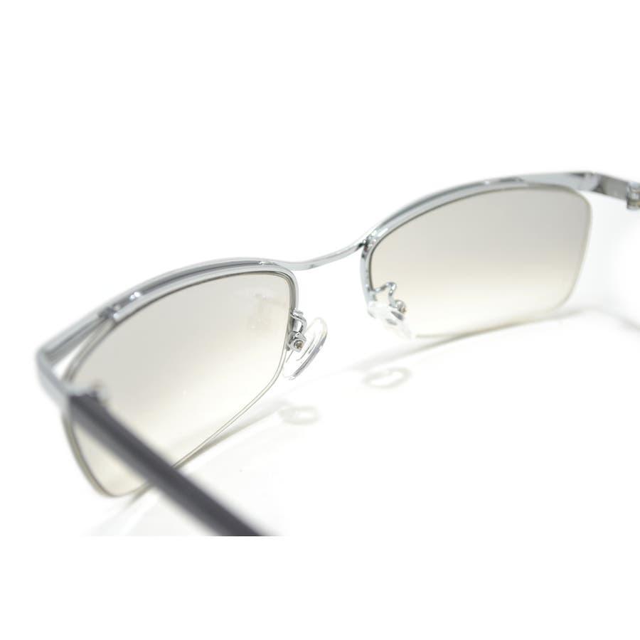【全2色】 伊達メガネ サングラス ちょい悪 オラオラ系 強面 薄い色 ライトカラーレンズ メンズ レディース 7