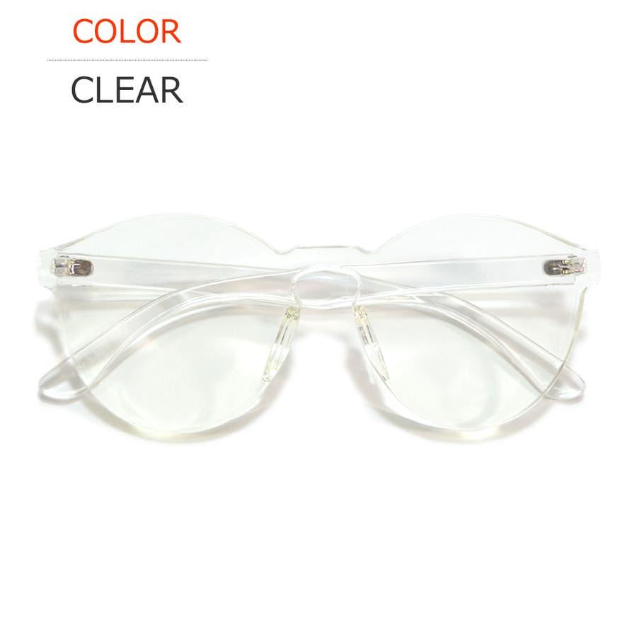 伊達メガネ サングラス フレームレス フレーム無し 縁なし 丸メガネ メンズ レディース 108