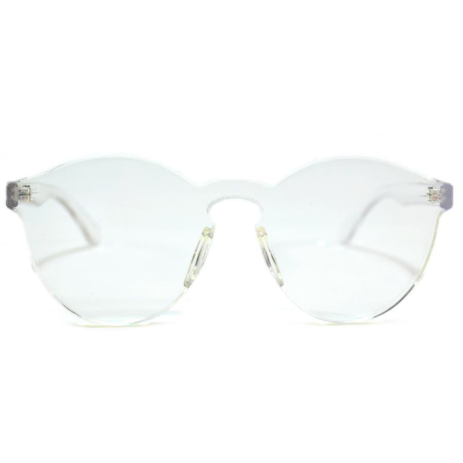 伊達メガネ サングラス フレームレス フレーム無し 縁なし 丸メガネ メンズ レディース 4